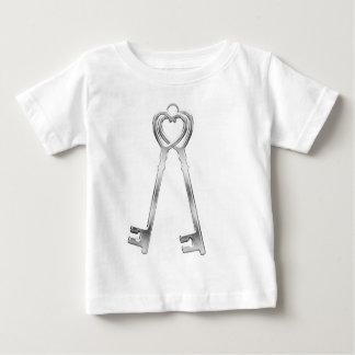 Camiseta Para Bebê Duas chaves para um grande amor