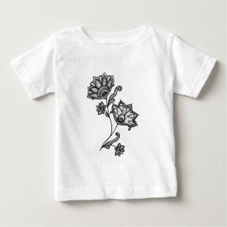 Camiseta Para Bebê Duas flores