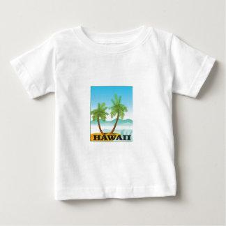 Camiseta Para Bebê duas palmas de Havaí