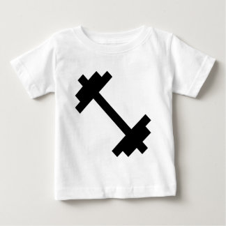 Camiseta Para Bebê Dumbbell do fitness center