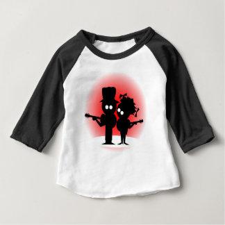 Camiseta Para Bebê Duo da guitarra