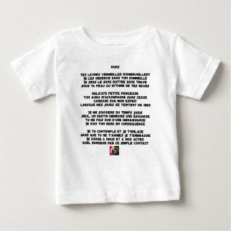 Camiseta Para Bebê DURMA - Poema - François Cidade