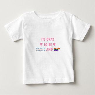 Camiseta Para Bebê É aprovado ser o transporte e o gay (v1)