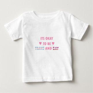 Camiseta Para Bebê É aprovado ser o transporte e o gay (v4)