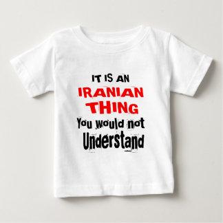 CAMISETA PARA BEBÊ É DESIGN IRANIANO DA COISA