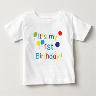 Camiseta Para Bebê É meu primeiro aniversario