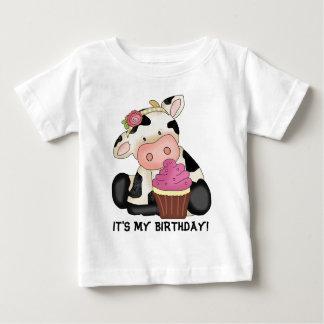 Camiseta Para Bebê É meu t-shirt da vaca do aniversário