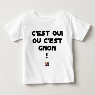 Camiseta Para Bebê É SIM OU É GNON! - Jogos de palavras