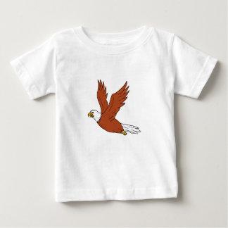 Camiseta Para Bebê Eagle irritado que voa desenhos animados