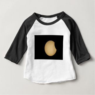 Camiseta Para Bebê eclipse solar, sol, lua, ciência, fenômeno, pla