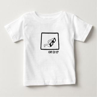 Camiseta Para Bebê Eclipse solar Wyoming 2017