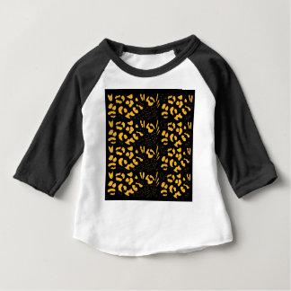 Camiseta Para Bebê Eco do teste padrão do tigre