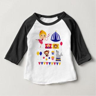 Camiseta Para Bebê Edição bonito tirada mão do circo: Material da