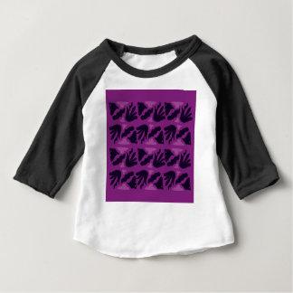 Camiseta Para Bebê Edição cor-de-rosa preta ROXA do vintage de