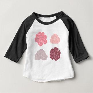 Camiseta Para Bebê Edição desenhado mão original dos rosas
