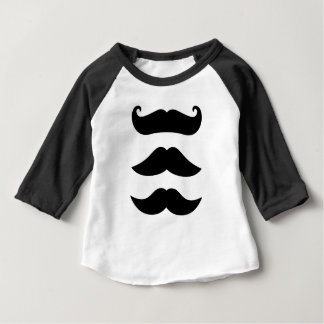 Camiseta Para Bebê Edição do vintage dos bigodes dos desenhistas