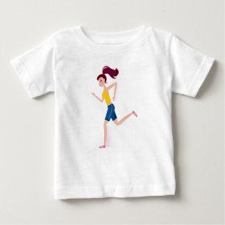 Camiseta Para Bebê Edição Running da menina