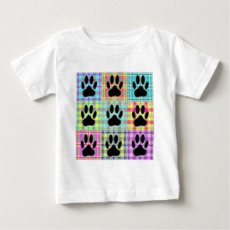 Camiseta Para Bebê Edredão do teste padrão da pata do cão