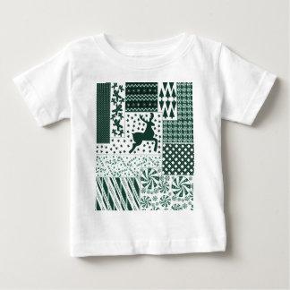 Camiseta Para Bebê Edredão do verde do Natal