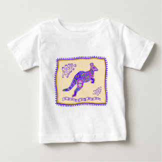Camiseta Para Bebê Edredão indiana do canguru