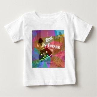 Camiseta Para Bebê Ele viagem demasiado fácil sobre o mundo