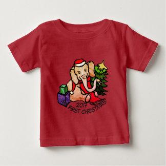 Camiseta Para Bebê Elefante adorável dos desenhos animados do