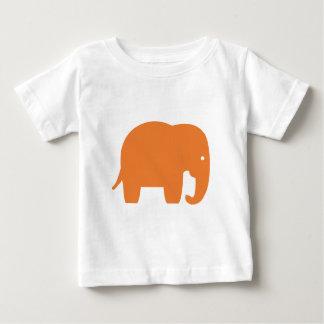 Camiseta Para Bebê elefante alaranjado