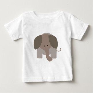 Camiseta Para Bebê Elefante bonito de Brown