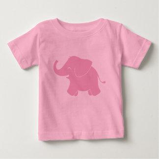 Camiseta Para Bebê Elefante cor-de-rosa bonito feliz