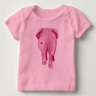 Camiseta Para Bebê Elefante cor-de-rosa SWAK