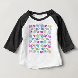 Camiseta Para Bebê Elefantes bonitos