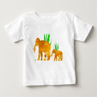 Camiseta Para Bebê Elefantes de marcha de Brown