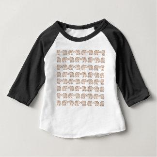 Camiseta Para Bebê Elefantes indianos
