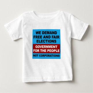 Camiseta Para Bebê Eleições livres e justas