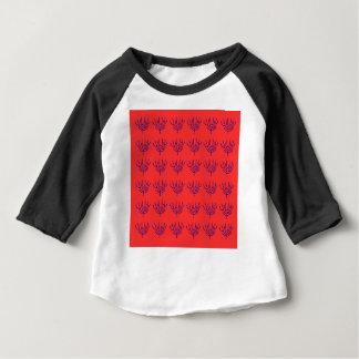 Camiseta Para Bebê Elementos azuis deliciosos dos seeweeds do design