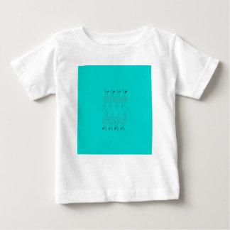 Camiseta Para Bebê Elementos azuis do design
