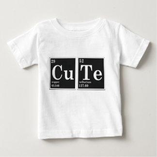 Camiseta Para Bebê Elementos periódicos do CU TE