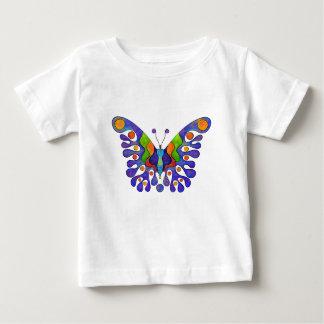 Camiseta Para Bebê Elenissina - borboleta colorida