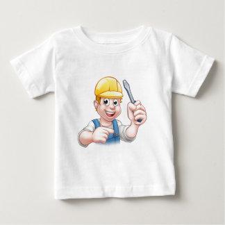 Camiseta Para Bebê Eletricista dos desenhos animados que guardara a
