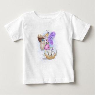 Camiseta Para Bebê Elisa o t-shirt feericamente do jérsei da páscoa