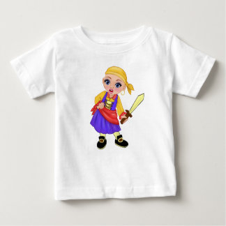 Camiseta Para Bebê Ella a princesa Enchanted Que Ser Você? Pirata