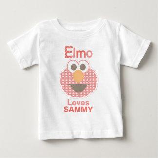 Camiseta Para Bebê Elmo ama-o que | adicionam seu nome