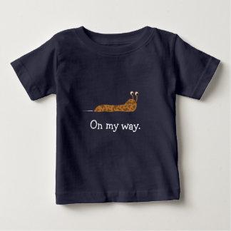 Camiseta Para Bebê Em meu T do Slug da maneira