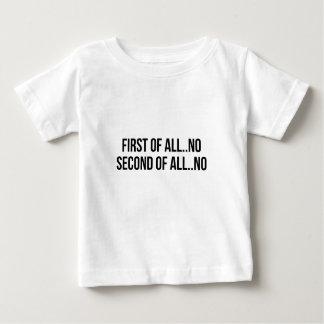 Camiseta Para Bebê Em segundo de tudo