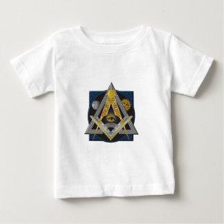 Camiseta Para Bebê Emblema da maçonaria
