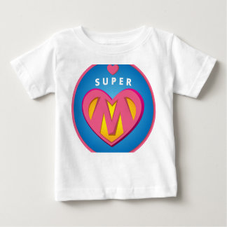 Camiseta Para Bebê Emblema engraçado da mamã do Superwoman do