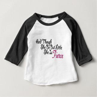 Camiseta Para Bebê Embora seja mas pouco é feroz