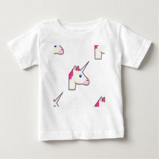 Camiseta Para Bebê emoji do unicórnio