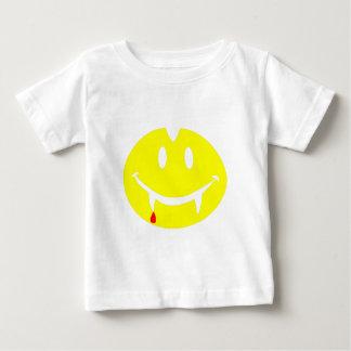 Camiseta Para Bebê emoji dracula do vampiro