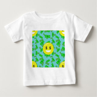 Camiseta Para Bebê emoji eyed dinheiro
